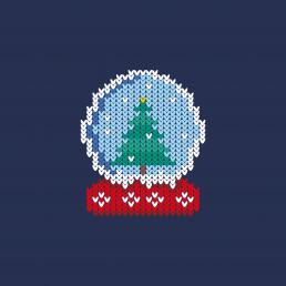HK Identitee T-Shirt | Snow Globe Knitwit
